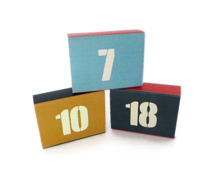 Weihnachtskalender nur mit Zahlen nur mit Nummern ohne Motive Adventskalender Jungs Männer Mann Junge Schachteln Schachtel pappe Papier