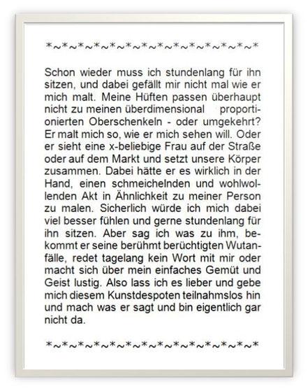 Text von Sita Angelika Völkel nach einem Bild von Otto Dix: Sitzender Akt mit dunklen Haaren, 1930