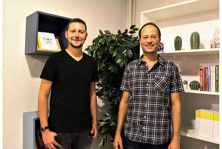 Joël von Moos und Christian Enzler bei Radio Maria in der Musiksendung über die Kantate Dorothea zu Ehren des Niklaus von Flüe
