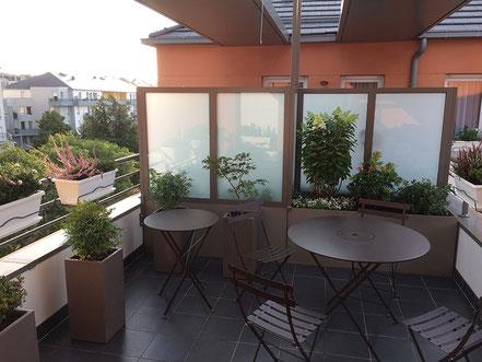 La terrasse telle qu'elle est aujourd'hui