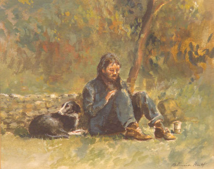 Arnold Beauvais 1886 - 1984 Windsor Castle  watercolour 8 x 10 in