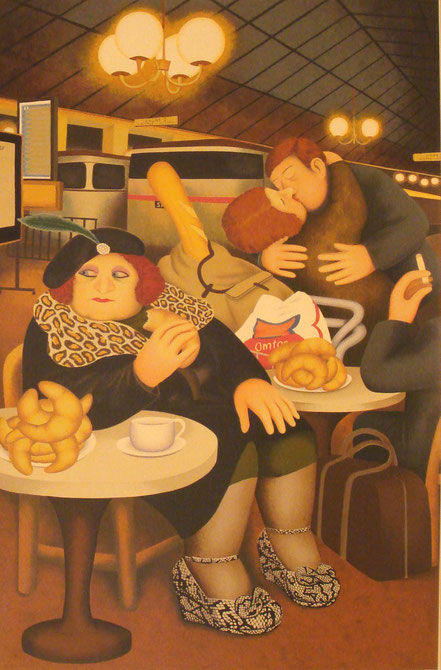 John Hassall The Disillusioned Jester watercolour  8 x 6 ins