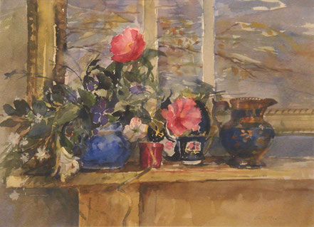 James Longueville PS RBSA On the Mud St Aubin Harbour Jersey pastel 12 x 15 inches