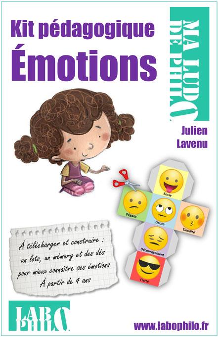 jeu, émotions, enfants, téléchargement, labophilo, dés à émotions, mémory des émotions, mime émotions, loto des émotions