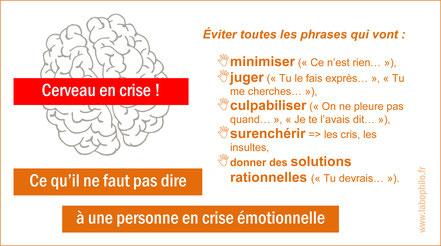 Crise émotionnelle. émotions. les phrases à éviter en temps de crise émotionnelle