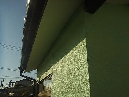 熊本市T様家のミントグリーン外壁塗装完成。