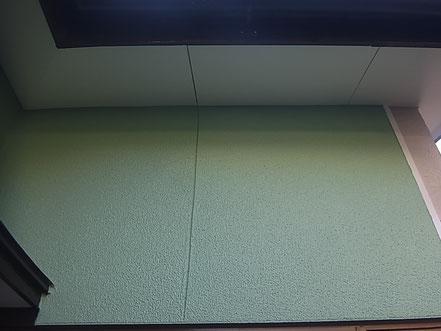 熊本市T様家の薄緑の北側外壁塗装完成。