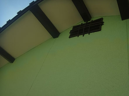 熊本市T様家の薄緑の東側外壁塗装完成。