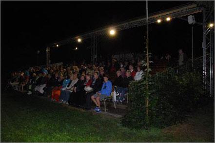 Zuschauerbereich Freilichtbühne im Busch