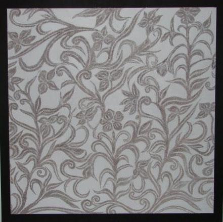 FLORALES 105x105 Acryl & Sand gespachtelt Fr. 450.--