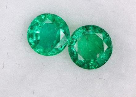 Smaragde in verschiedenen Formen findet man bei Edelstein Stephan in München