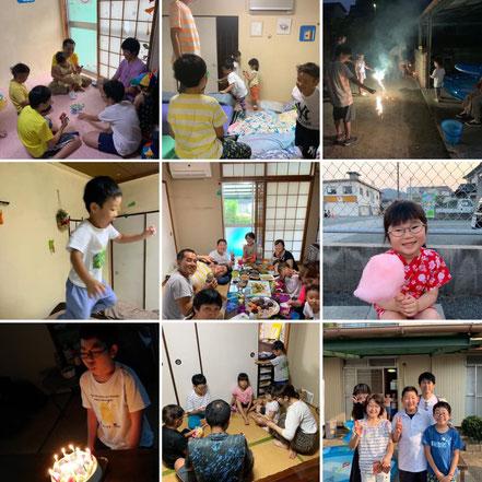 小児がん患児家族お泊り交流会、岡山県井原市。