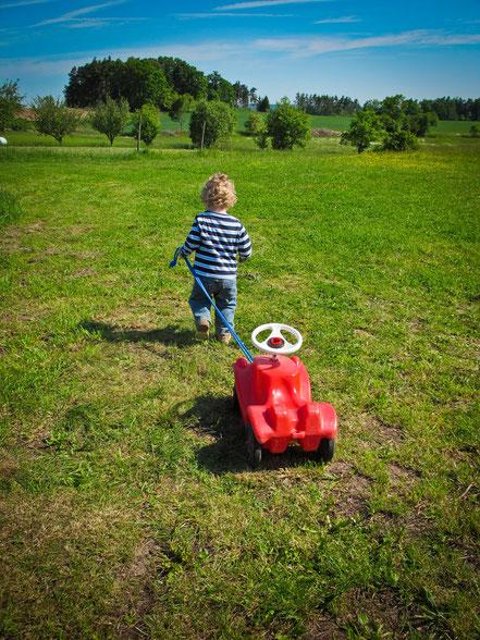 Bobbycarwochen Kidnerland Frankenhöfe - der Weg zum Bauernhofurlaub