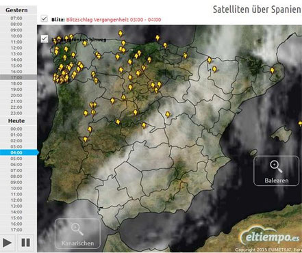 Satellitenaufnahme: Wolken