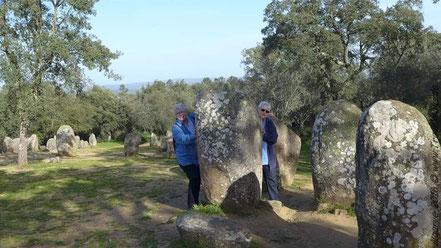 Travelmäuse bei den Menhiren nahe Evora.