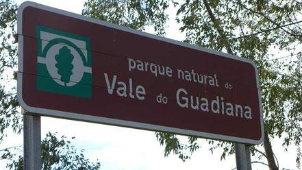 Hinweisschild zum Nationalpark