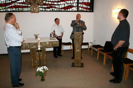 Praktischer Unterricht mit Diakon Paul Hakes - Referatsleiter