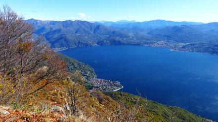 Blick von Morissolo - Nördl. Lago Maggiore u. Cannero Riviera