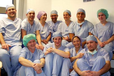 Pflegeteam des HNO-OP am UK Freiburg - 2006