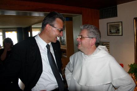 Nach einer gemeinsamen Veranstaltung mit Pater Roman - 2007