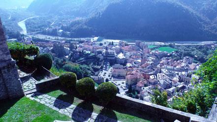 Blick vom Sacro Monte auf Varallo