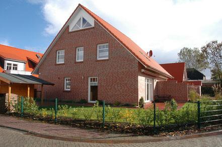 Haus am Deich an der deutschen Nordsee