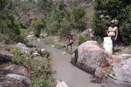 Ezequiel jumping of the rocks