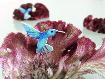 Kolibribrosche || hummingbird brooch
