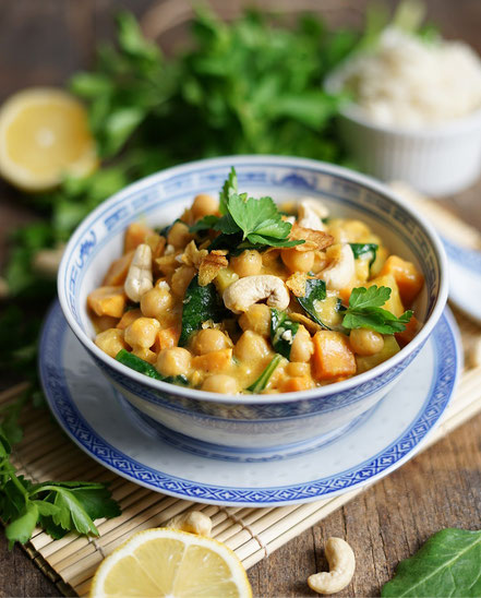 Curry Kichererbsen vegan