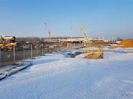 Stand der Bauarbeiten von IKEA in Magdeburg