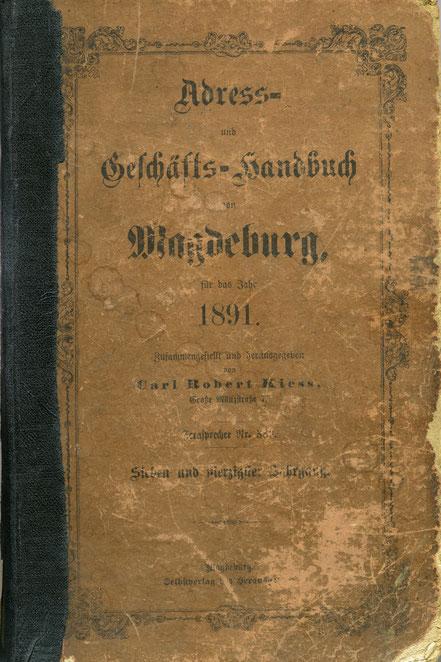 Magdeburger Adressen von 1891