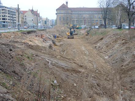 Innenstadt - Breiter Weg nach dem Abriss von zwei DDR-Neubaublöcken