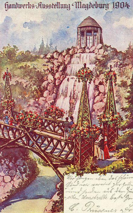 Gleich eine Ganze Reihe von Postkarten würdigte die Handwerksausstellung.