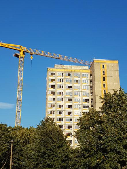 Vorbereitungen zum Abriss in Nord-Magdeburg