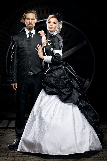 gehrock- hochzeitsanzug-extravagante anzuege-gothic gehrock-steampunk brautmode-coole anzuege