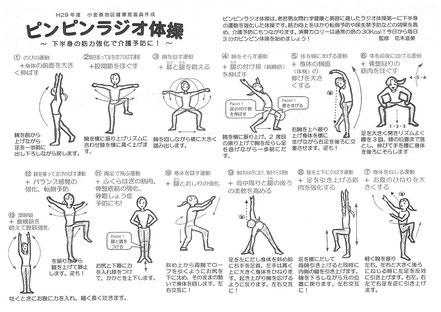 「ピンピンラジオ体操」のプリント