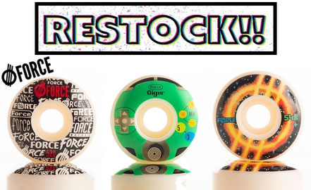 Force Wheels Restock! VMS Distribution Europe - Revive Skateboards Red Lifeline, Ambs World Decks back in stock! Fast Shipping through the whole EU / Europe.