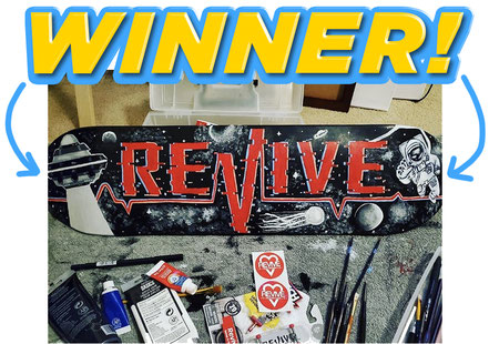 Revive Skateboards Design A Lifeline Contest Winner #designalifeline / VMS Distribution