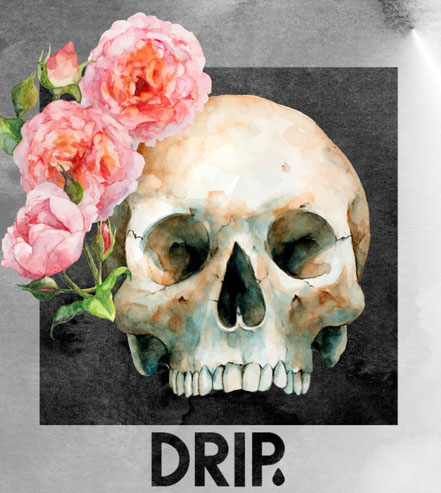 Drip Skateboards Rose Skull Logo VMS Distribution