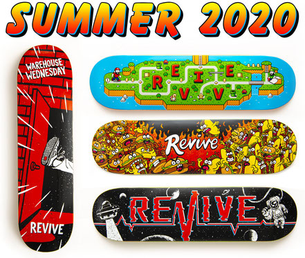 Revive Skateboards Summer 2020 Line / VMS Distribution Europe - Get Revive's new summer 2020 decks in Europe through VMS Distr. Fast Shipping!