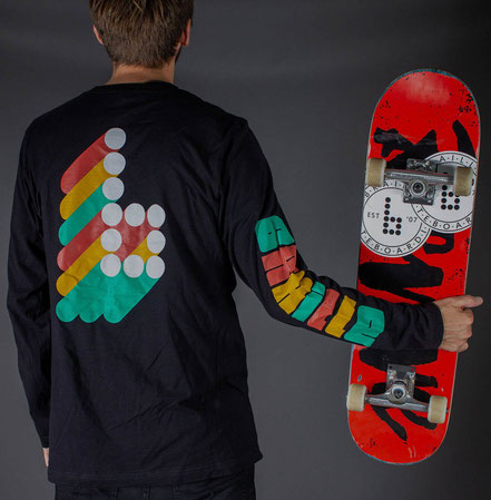 Braille Skateboarding Fall 2019 3D Longsleeve / VMS Distribution Europe - Revive Force 3Block Braille