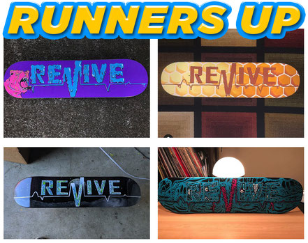 Revive Skateboards Design a Lifeline Contest Runners Up #designalifeline / VMS Distribution Europe
