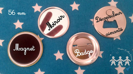 Badges magnets miroirs décapsuleurs