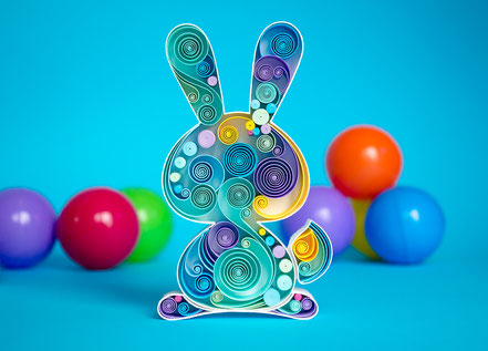quilling, art, paper art, quilling paper art, animals quilling art, quilling paper rabbit , quilling rabbit, sweet dreams, kids art, quilling kidsroom, paper,  quilling wall art, artwork, квиллинг, Larissa Zasadna, Лариса Засадная, Квиллинг бумага