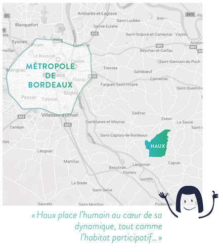Projet d'habitat participatif à Haux, situation