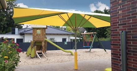 ✅ Sonnenschirm SCHATTELLO may Schirme im Kindergarten Offenbach ✅ Sonnenschirme im Sandkasten