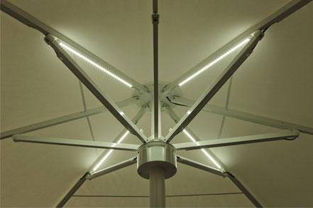 may SCHATTELLO mit LED Beleuchtung im Schirmdach