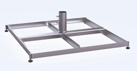 Standrahmen Sonnenschirmständer aus Stahl may SZ 412 mit Schrägausgleich Stellschraubenfür Sonnenschirm SCHATTELLO
