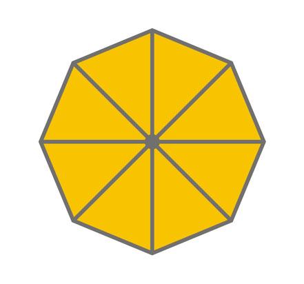 may Sonnenschirm rund gelb