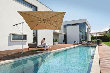 Sonnenschirme für Terrasse und Balkon ampelschirm may mezzo quadratisch 260x260cm